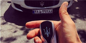 Rich young man and his Maserati